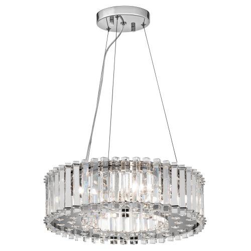 Kichler Crystal Skye Ceiling Fitting 6 Light LED Chrome Pendant IP44 KL/CRSTSKYE/P/A