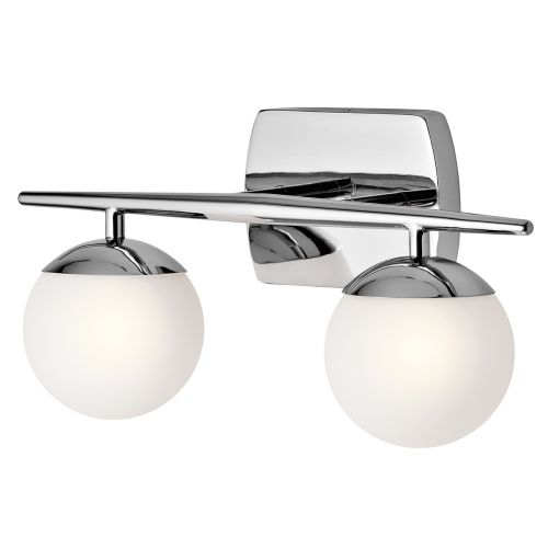 Kichler Jasper 2lt Bathroom Wall Light Polished Chrome ELS/KL/JASPER2 BATH