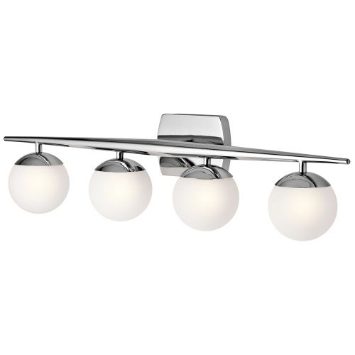 Kichler Jasper 4lt Bathroom Wall Light Polished Chrome ELS/KL/JASPER4 BATH