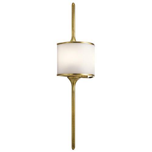 Kichler Mona 2lt Wall Light Natural Brass ELS/KL/MONA/L NBR