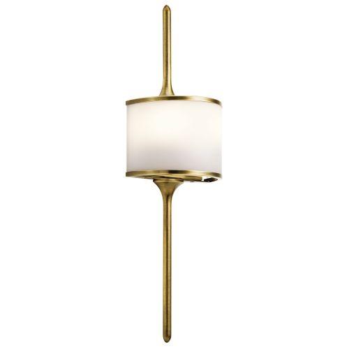Kichler Mona 2lt Wall Light Natural Brass ELS/KL/MONA/S NBR