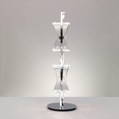 Mantra M0896 Kromo Table Lamp 2 Light G9 Looped Frame Polished Chrome