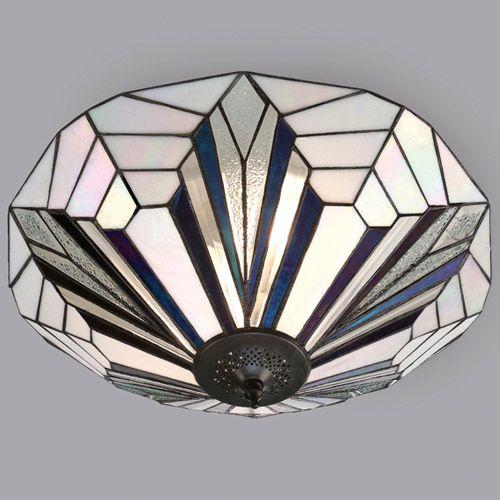 Interiors 1900 Tiffany Astoria Large 2 Light Flush 63935