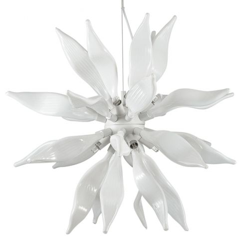 Ideal Lux White Leaves Hanging Ceiling Light SP8 111957