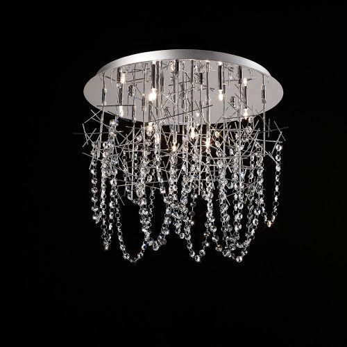 Diyas IL30542 Lexi Crystal Ceiling Fitting 10 Light Polished Chrome