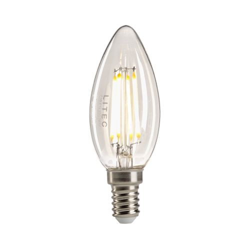 Candle Style Clear E14 Lamp Clear Glass Quintessentiale LP-LED4W-E14-C3C