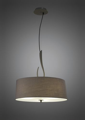 Mantra M3684 Lua Pendant 3 Light E27 Ash Grey Ash Grey Shade