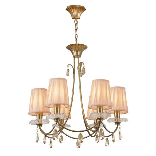 Mantra M6292 Sophie Medium 6 Light Gold Chandelier