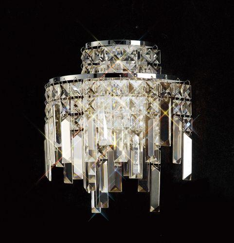 Diyas  Maddison 2 Light Wall Lamp Polished Chrome/Crystal IL30250
