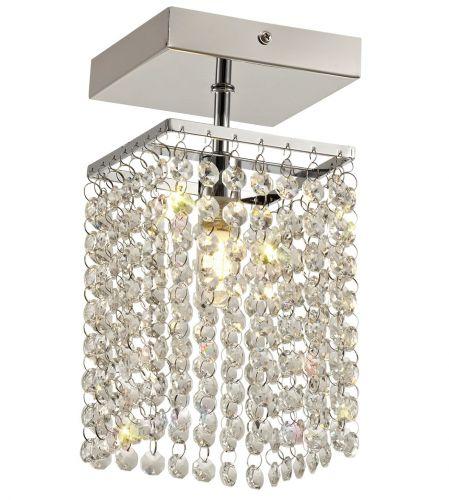 Bathroom Crystal Ceiling Fitting Light Chrome Lekki Mistique LEK3190