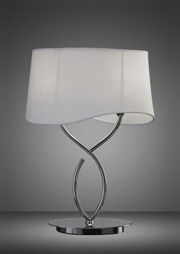 Mantra Ninette Polished Chrome White Shade Table Lamp M1906