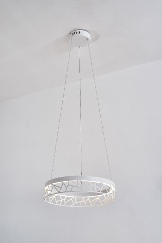 Avivo Mosaic PD18022-40-1A MW 1 Light LED Pendant Matte White Ceiling Fitting