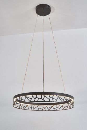 Avivo Mosaic PD18022-60-1A CB 1 Light LED Pendant Coffee Black Ceiling Fitting