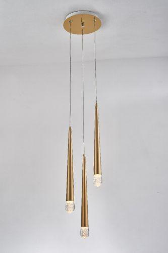 Avivo Droplet PD2309-3A B 3 Light LED Pendant Brass Ceiling Fitting