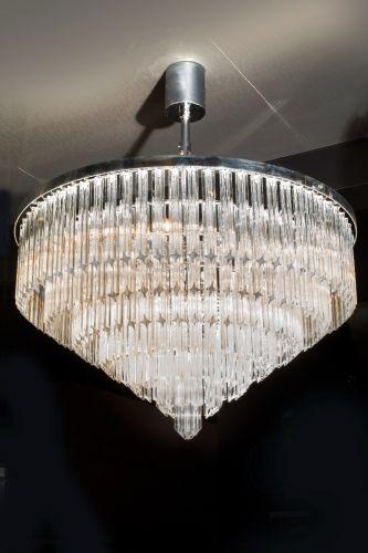 Large Chandelier 15 Light Fitting Chrome Sukey Avivo AVI/PD2727/15A