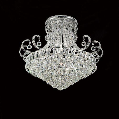 Diyas Pearl 12 Light Round Ceiling   Polished Chrome/Crystal IL30027