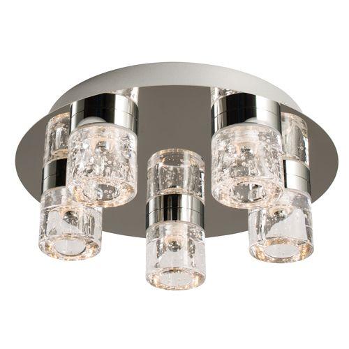 Endon Imperial 5 Light LED Bathroom Ceiling Fitting IP44 61358