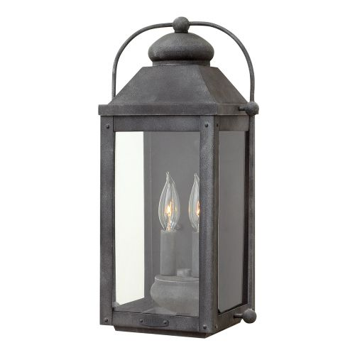 Anchorage 2 Light Wall Lantern Aged Zinc IP44 Quintessentiale QN-ANCHORAGE-M