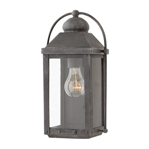 Anchorage Single Wall Lantern Aged Zinc IP44 Quintessentiale QN-ANCHORAGE-S