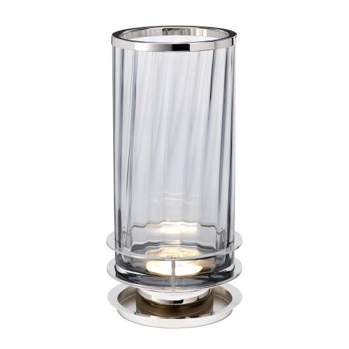 Arno Table Lamp Polished Nickel Smoked Glassware Quintessentiale ELS/QN-ARNO-SMOKE-PN