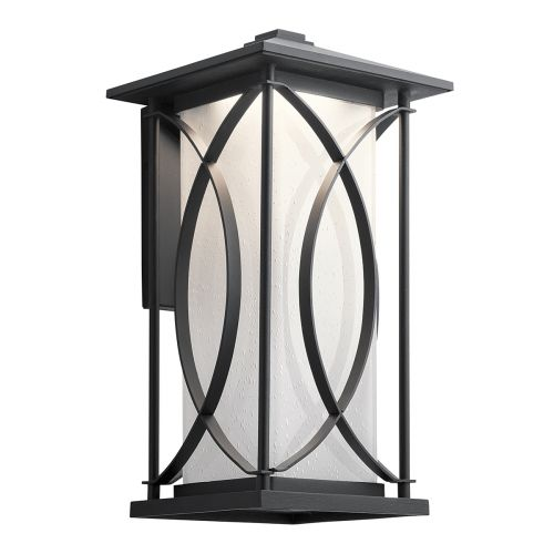 Ashbern Single Wall Lantern Large Textured Black IP44 Quintessentiale QN-ASHBERN-L