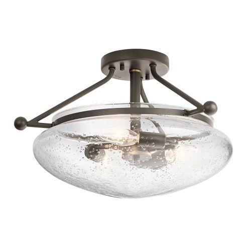 Belle 3 Light Semi Flush Ceiling Fitting Olde Bronze Quintessentiale QN-BELLE-SF-OZ