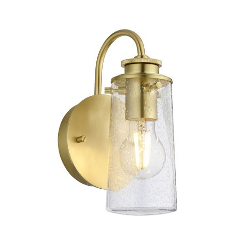 Braelyn Single Wall Light Brushed Brass IP44 Quintessentiale QN-BRAELYN1-BB