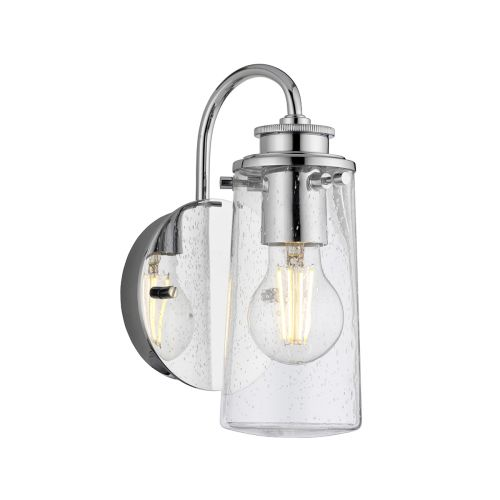 Braelyn Single Wall Light Polished Chrome IP44 Quintessentiale QN-BRAELYN1-PC