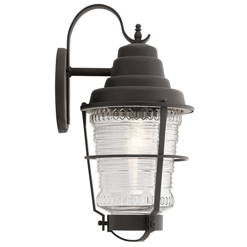 Chance Harbor Single LargeWall Lantern Weathered Zinc IP44 Quintessentiale QN-CHANCE-HARBOR-L