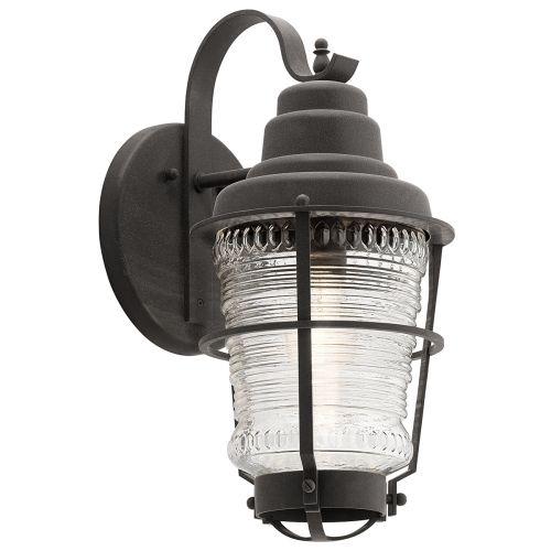 Chance Harbor Single Medium Wall Lantern Weathered Zinc IP44 Quintessentiale QN-CHANCE-HARBOR-M