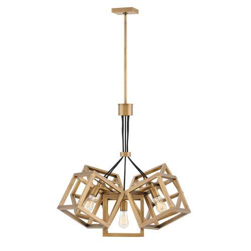 Ensemble 5 Light Pendant Brushed Bronze Quintessentiale QN-ENSEMBLE5P-BB