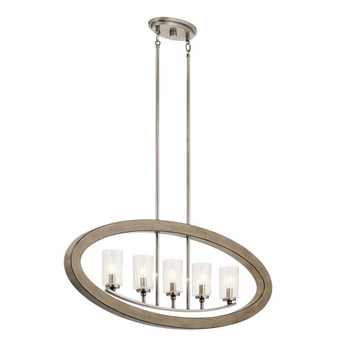 Grand Bank 5 Light Chandelier Distressed Antique Grey Quintessentiale QN-GRAND-BANK5