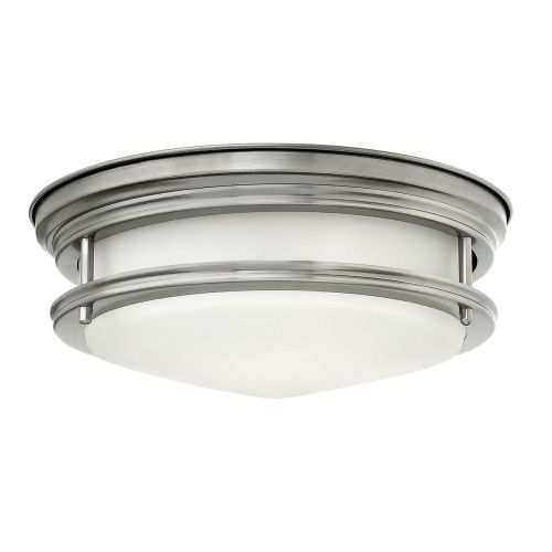 Hadrian 2 Light Flush Ceiling Fitting Opal Glass Antique Nickel IP44 Quintessentiale QN-HADRIAN-FS-AN-OPAL