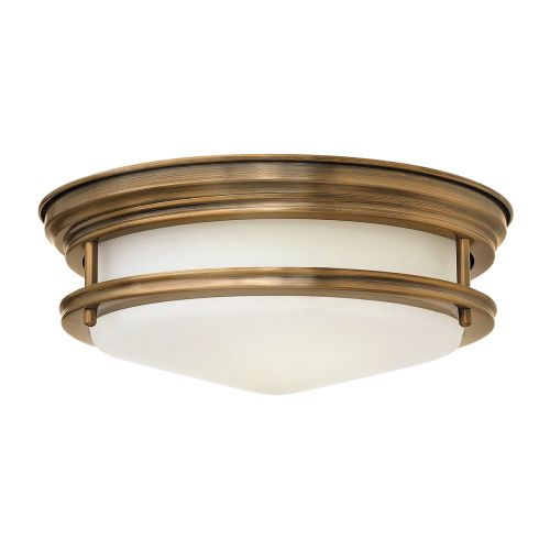 Hadrian 2 Light Flush Ceiling Fitting Opal Glass Brushed Bronze IP44 Quintessentiale QN-HADRIAN-FS-BR-OPAL