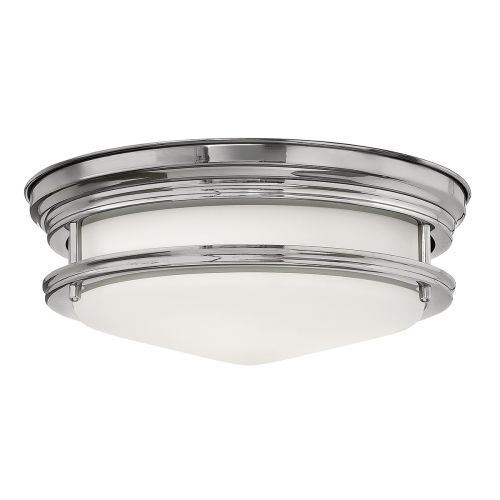Hadrian 2 Light Flush Ceiling Fitting Opal Glass Chrome Chrome with opal glass IP44 Quintessentiale QN-HADRIAN-FS-CM-OPAL