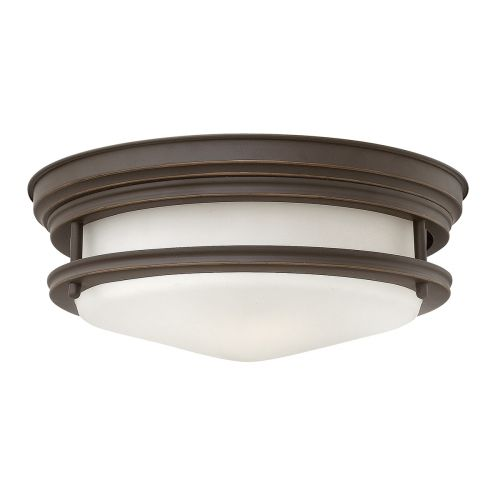 Hadrian 2 Light Flush Ceiling Fitting Oil Rubbed Bronze with opal glass IP44 Quintessentiale QN-HADRIAN-FS-OZ-OPAL