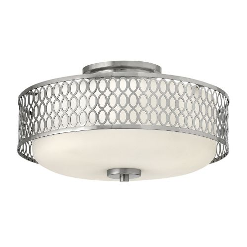 Jules 3 Light Flush Ceiling Fitting Brushed Nickel Quintessentiale QN-JULES-F-BN