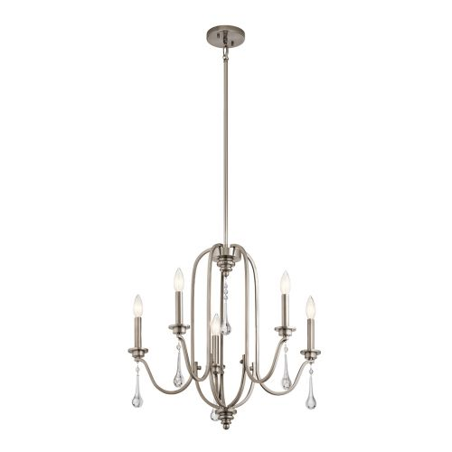 Karlee 5 Light Chandelier Classic Pewter Quintessentiale QN-KARLEE5