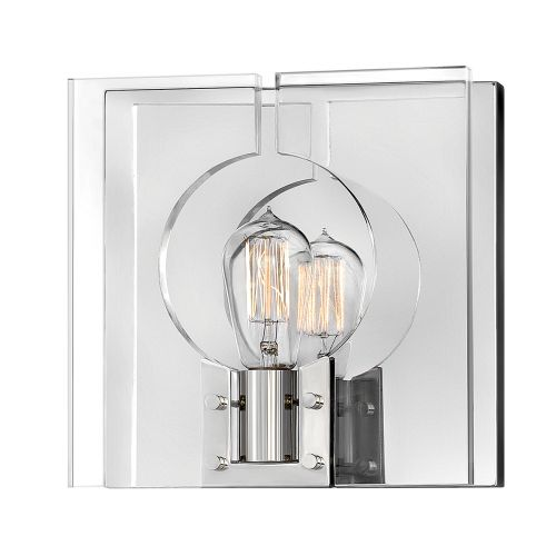 Ludlow 1 Light Wall Bracket Polished Nickel Clear Acrylic Quintessentiale QN-LUDLOW1-PN