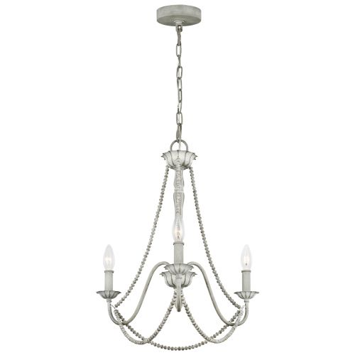 Maryville 3 Light Chandelier Washed Grey Quintessentiale QN-MARYVILLE3