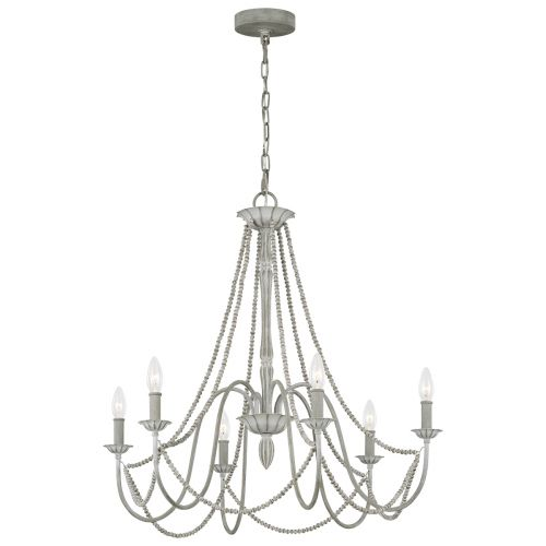 Maryville 6 Light Chandelier Washed Grey Quintessentiale QN-MARYVILLE6