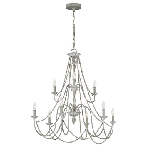 Maryville 9 Light Chandelier Washed Grey Quintessentiale QN-MARYVILLE9