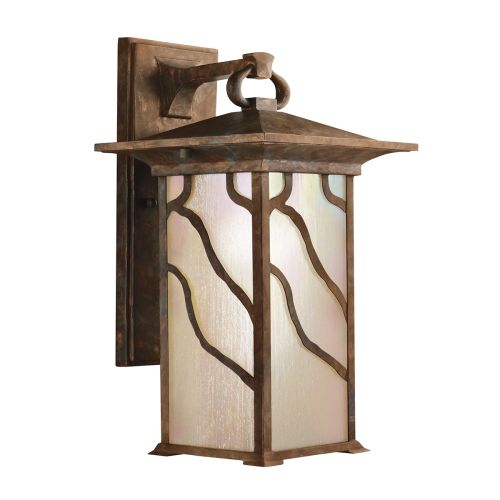 Morris 1 Light Large Wall Lantern Distressed Copper IP44 Quintessentiale QN-MORRIS-L