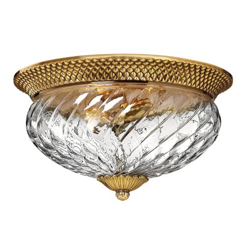 Plantation 3 Light Flush Ceiling Fitting Burnished Brass Quintessentiale QN-PLANTATION-FL-BB