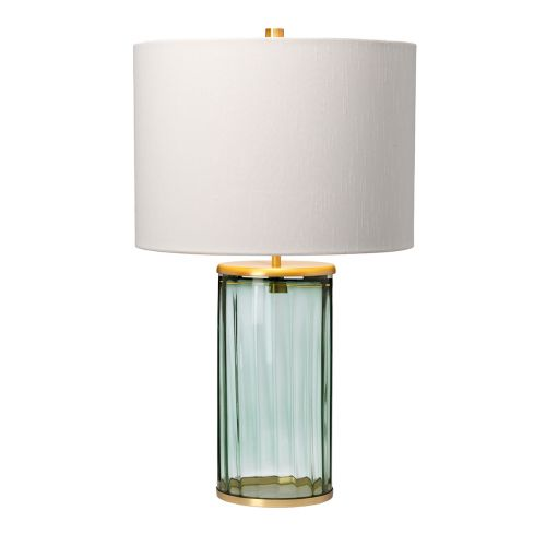 Reno Table Lamp Aged Brass Green Glassware Quintessentiale QN-RENO-GREEN-AB