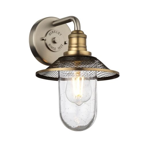 Rigby 1 Light Wall Light Antique Nickel with Heritage Brass IP44 Quintessentiale QN-RIGBY1-BATH-AN