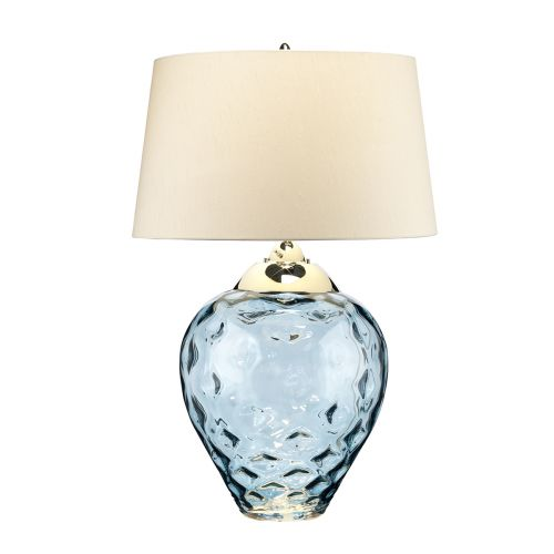 Samara Large Table Lamp Blue Tinted Glass Quintessentiale QN-SAMARA-TL-LRG-BLU