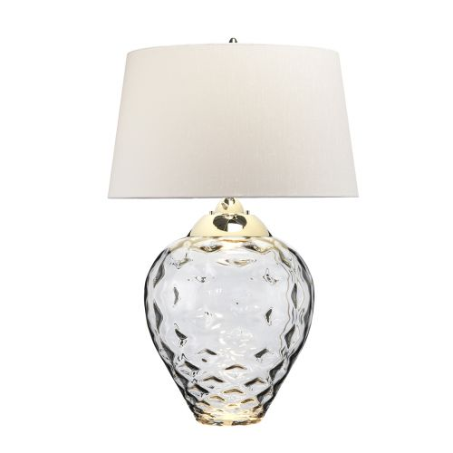 Samara Large Table Lamp Smoke Tinted Glass Quintessentiale QN-SAMARA-TL-LRG-SMK