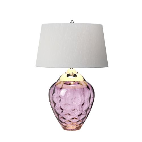 Samara Table Lamp Polished Nickel Plum Glassware Quintessentiale QN-SAMARA-TL-PLM