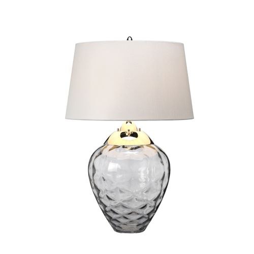 Samara Table Lamp Polished Nickel Glassware Smoked Quintessentiale QN-SAMARA-TL-SMK